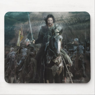 Aragorn que lleva en caballo alfombrilla de ratones