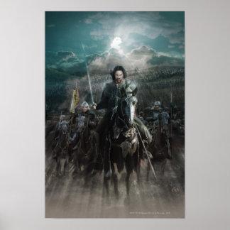 Aragorn que lleva en caballo posters