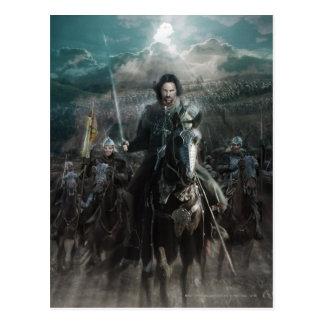 Aragorn que lleva en caballo postal