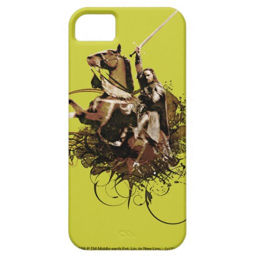 Aragorn que monta un collage del vector del caball iPhone 5 Case-Mate fundas
