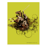Aragorn que monta un collage del vector del caball tarjetas postales