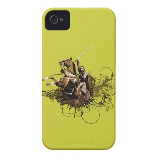 Aragorn que monta un collage del vector del funda para iPhone 4 de Case-Mate