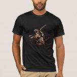 Aragorn que monta un collage del vector del playera