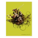 Aragorn que monta un collage del vector del postales