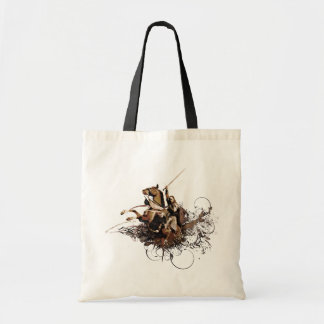 Aragorn Riding a Horse Vector Collage Tote Bag