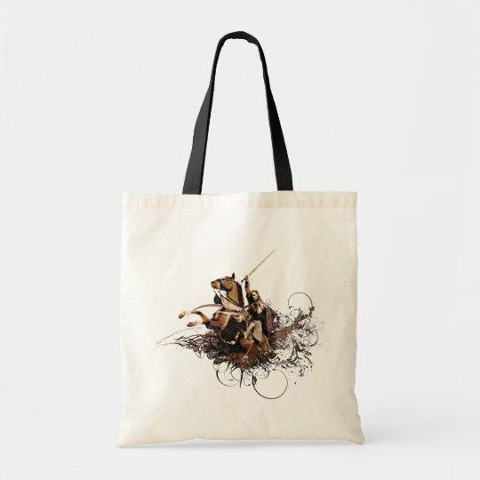 Aragorn Riding a Horse Vector Collage Tote Bag