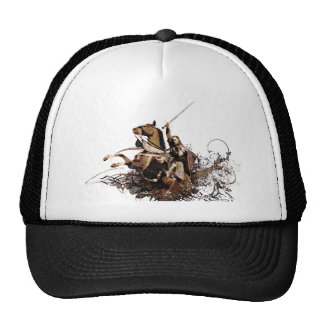 Aragorn Riding a Horse Vector Collage Trucker Hat