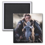Aragorn Riding Horse 2 Inch Square Magnet