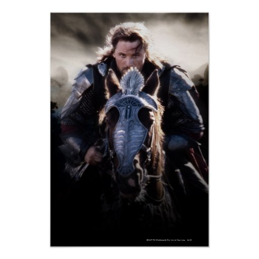 Aragorn Riding Horse Poster