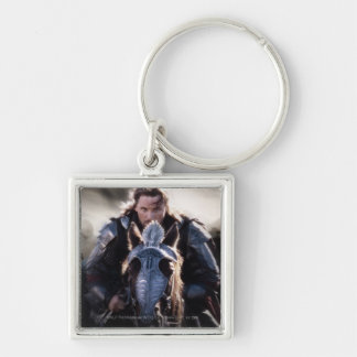Aragorn Riding Horse Silver-Colored Square Keychain