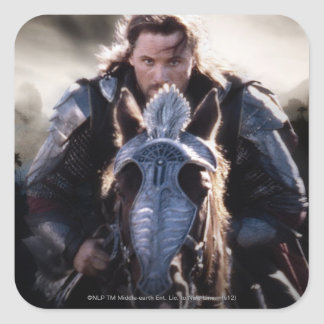 Aragorn Riding Horse Square Sticker