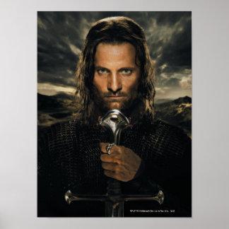 Aragorn Sword Down Poster