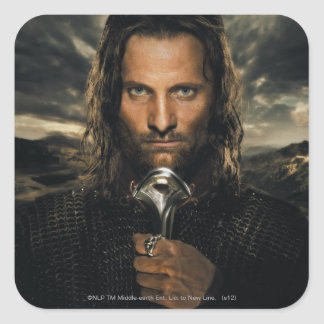 Aragorn Sword Down Square Sticker