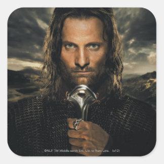 Aragorn Sword Down Square Sticker