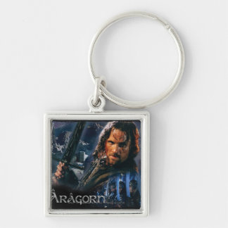 Aragorn With Army Silver-Colored Square Keychain