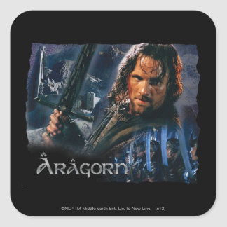 Aragorn With Army Square Sticker