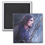 Aragorn with blood 2 inch square magnet