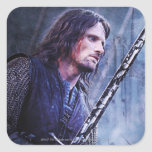 Aragorn with blood square sticker