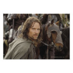 Aragorn with horse poster