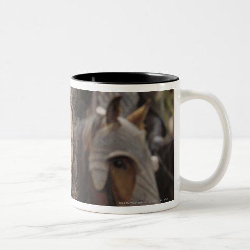 Aragorn with horse Two-Tone coffee mug