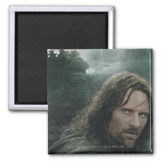 Aragorn y Ringwraiths Imán Cuadrado