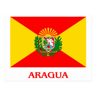 Aragua Flag with Name Postcard