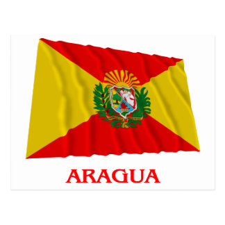 Aragua Waving Flag with Name Postcard