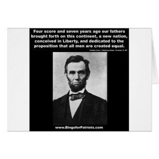 Araham Lincoln's Gettysburg Address Card