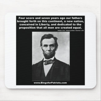 Araham Lincoln's Gettysburg Address Mouse Pad
