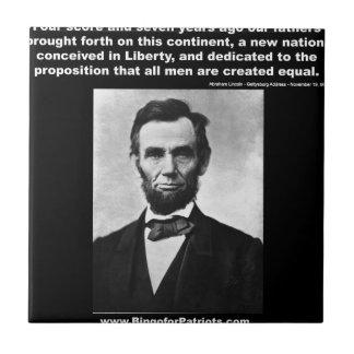 Araham Lincoln's Gettysburg Address Small Square Tile