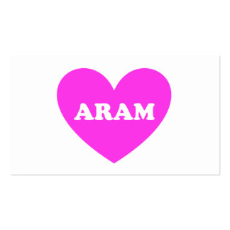 Aram Double-Sided Standard Business Cards (Pack Of 100)