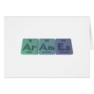 Arames-Ar-Am-Es-Argon-Americium-Einsteinium Card