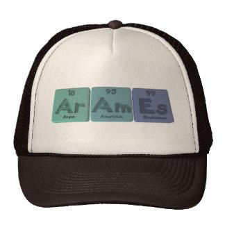 Arames-Ar-Am-Es-Argon-Americium-Einsteinium Mesh Hat