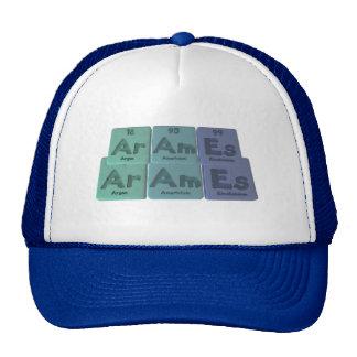 Arames-Ar-Am-Es-Argon-Americium-Einsteinium Hats