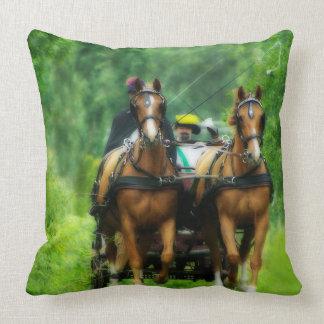 Aramis and Porthos Throw Pillow