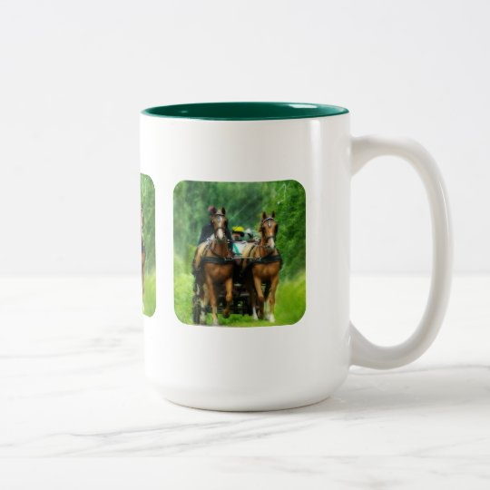 Aramis and Porthos Two-Tone Coffee Mug