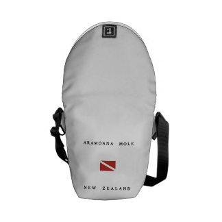 Aramoana Mole New Zealand Scuba Dive Flag Messenger Bag