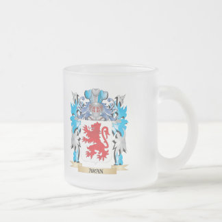Aran Coat Of Arms 10 Oz Frosted Glass Coffee Mug