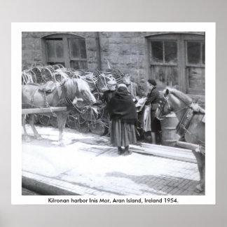 Aran Island Inis Mor, Kilronan Harbor Scene Poster