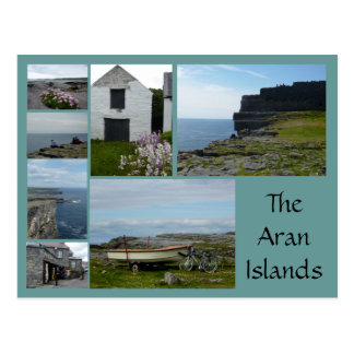 Aran Islands Collage Postcard