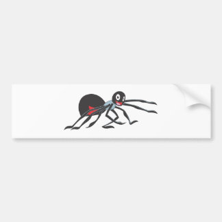 Araña alegre de la viuda negra etiqueta de parachoque