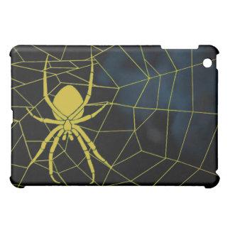 Araña amarilla en tela, correas