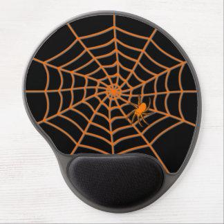 Araña anaranjada y tela en negro - gelifiqúese el alfombrillas con gel