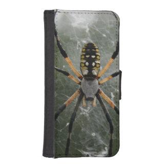Araña/Argiope enormes del amarillo y del negro Billetera Para Teléfono