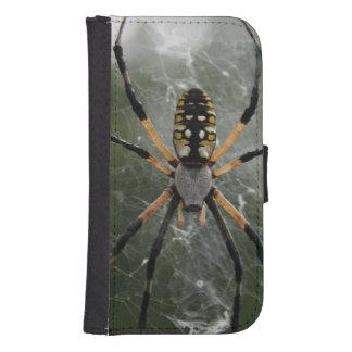 Araña/Argiope enormes del amarillo y del negro Fundas Tipo Cartera Para Galaxy S4