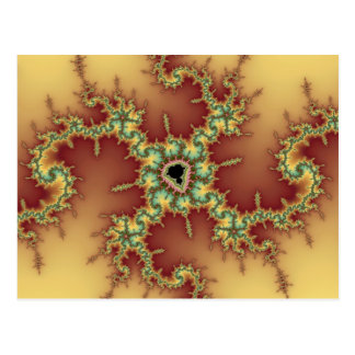Araña asiática - postal del fractal