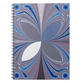 Araña azul libretas espirales