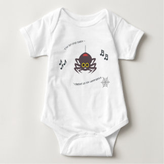 Araña bitsy itsy del bebé de la poesía infantil body para bebé