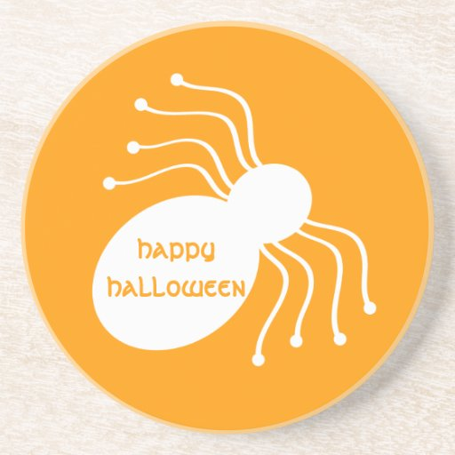 Araña blanca de Halloween en el práctico de costa  Posavaso Para Bebida
