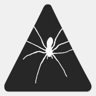 Araña blanca pegatina triangular